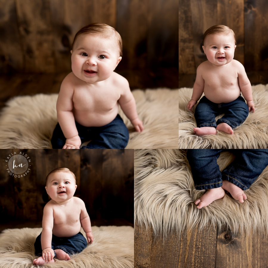 6 Month Baby // Milestone Session // Liberty MO // Kayla Alden Photography